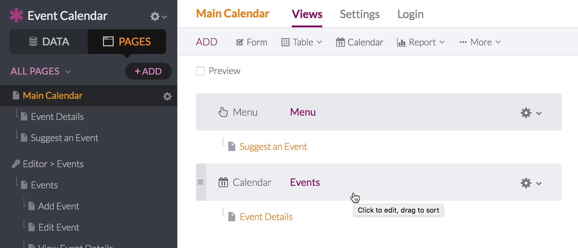 calendar you can edit
