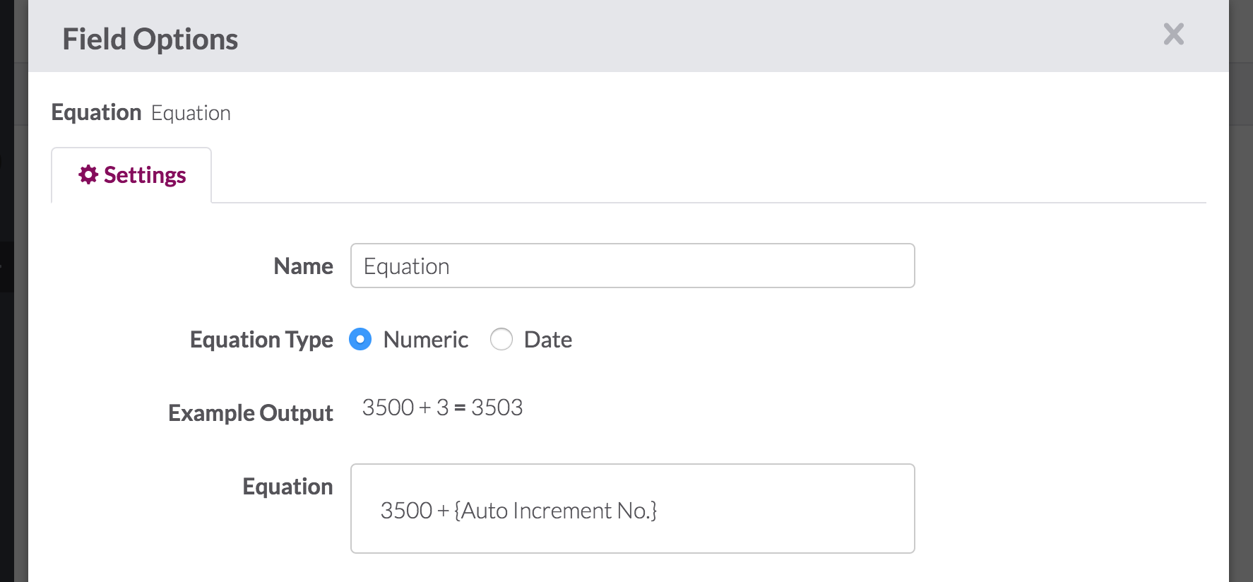 Start an Auto Increment Field from Any Number – Knack