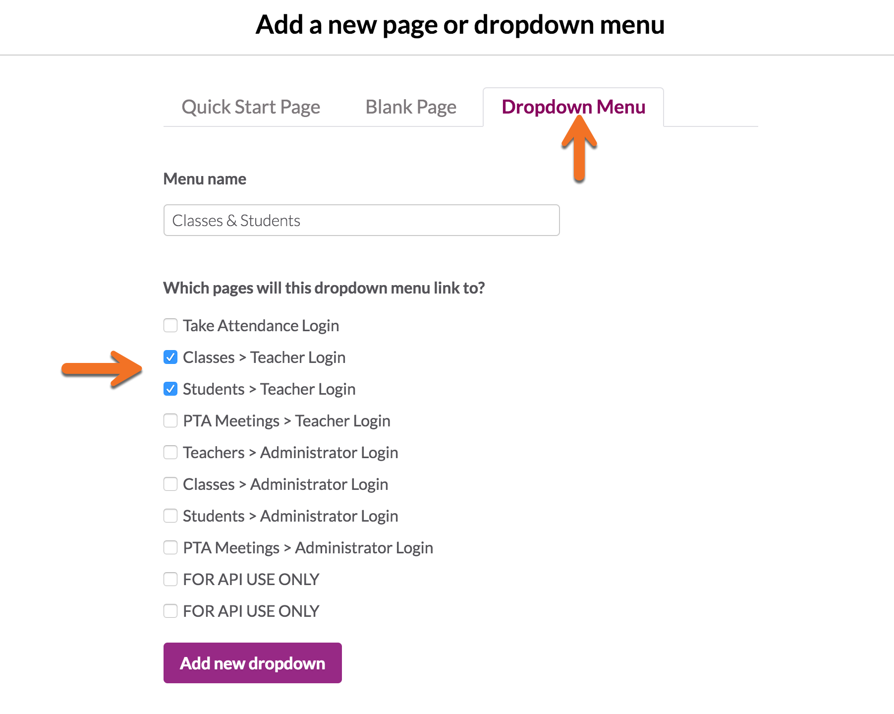 Introducing Dropdown Menus - Knack Blog